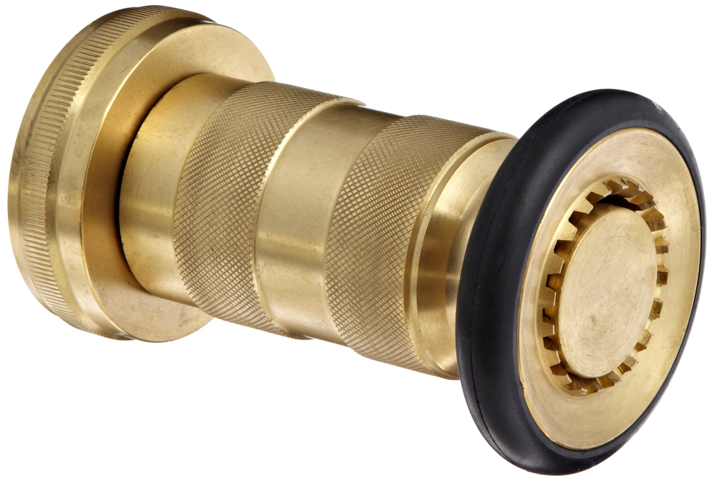 Moon 520-2011 Brass Fire Hose Nozzle, Heavy Duty Industrial Fog, 108 gpm, 2'' NPSH by Moon