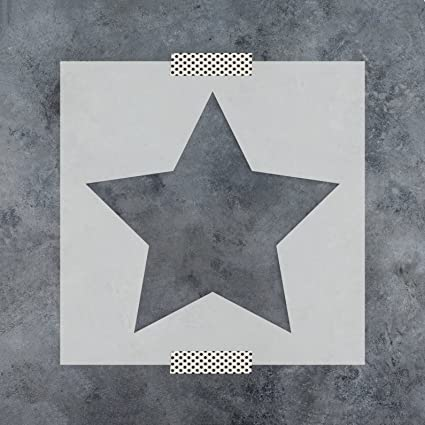 amazon com rounded star stencil template for walls and crafts