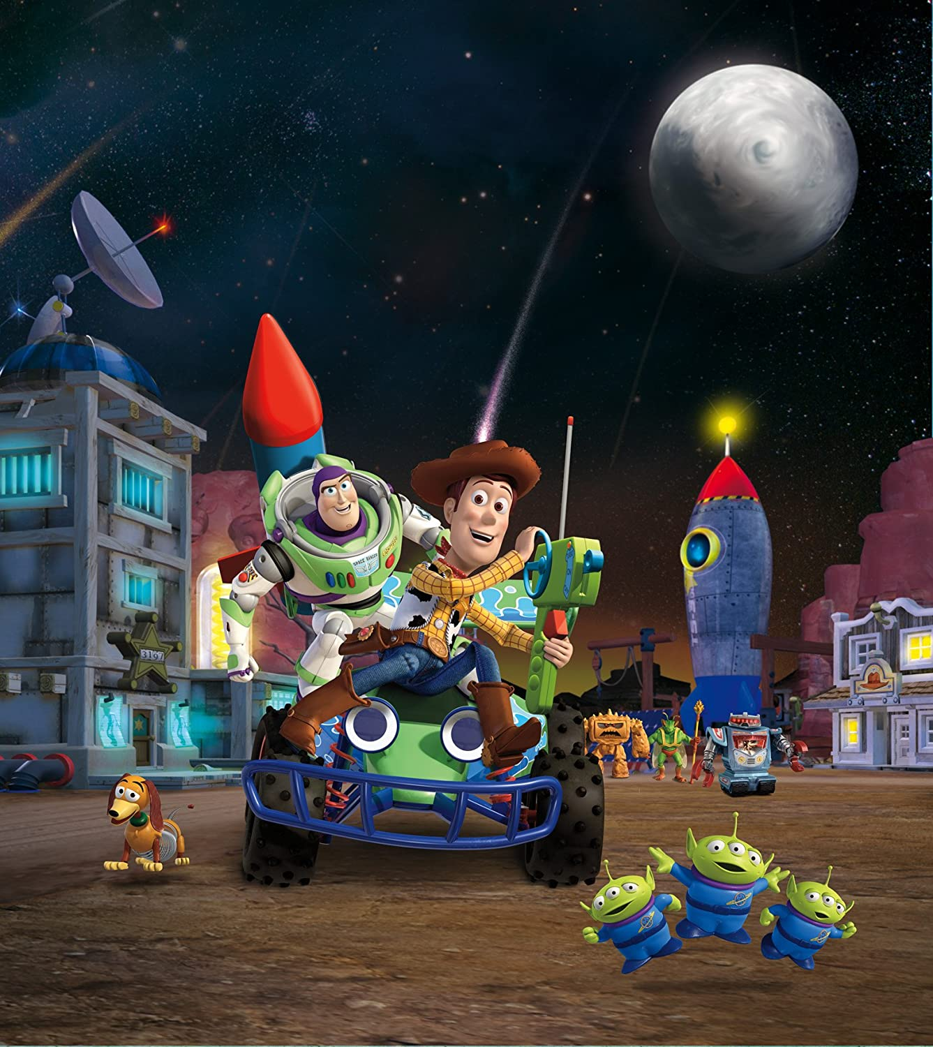 AG Design Toy Story 2 Part Photo Mural Wallpaper for Childrens Room