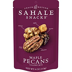 Sahale Snacks Maple Pecans Glazed Mix, 4 oz. – Nut Snacks in a Resealable Pouch, No Artificial Flavors, Preservatives or Colors, Gluten-Free Snacks