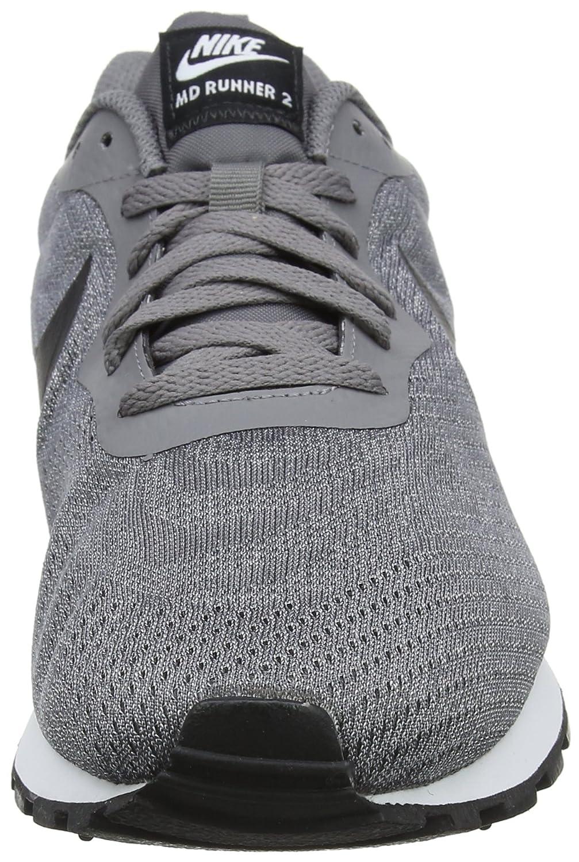 Nike Md Runner 2 Eng Mesh, Zapatillas para Hombre, Verde (Cargo Khaki/Black-Light Blue Fury 301), 45 EU