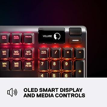 SteelSeries Apex 5 Teclado mecánico híbrido para juegos ...