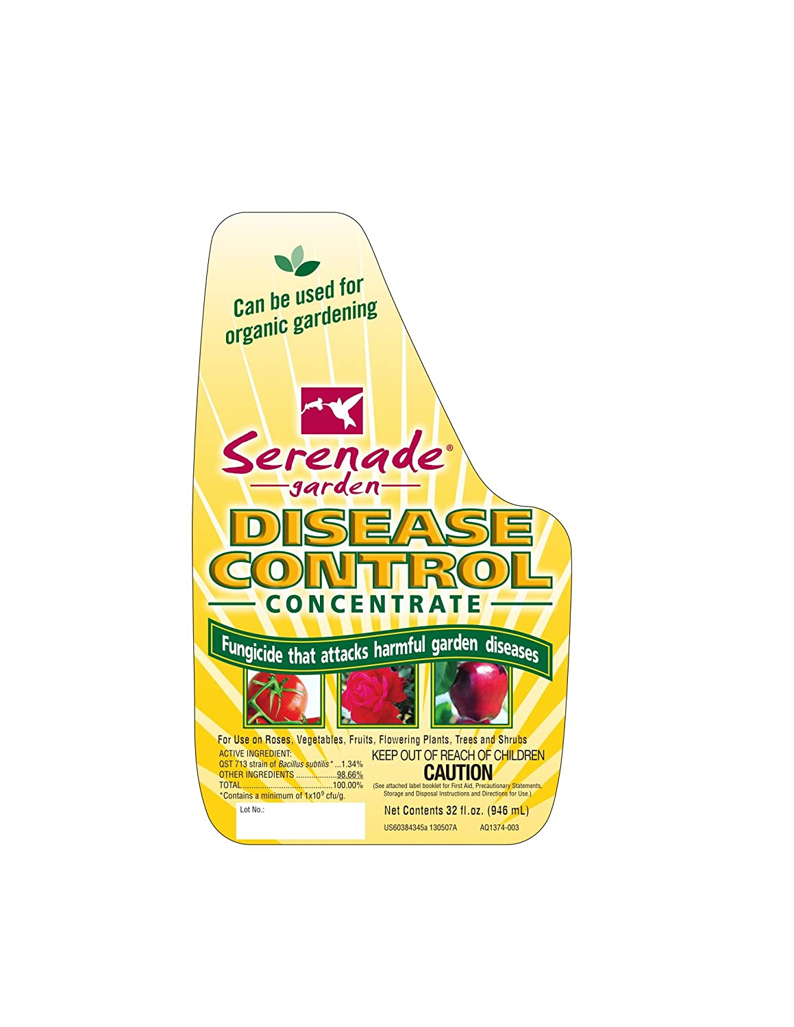 Serenade Garden Disease Control Organic Fungicide, Ready-to-Spray, 28 Oz