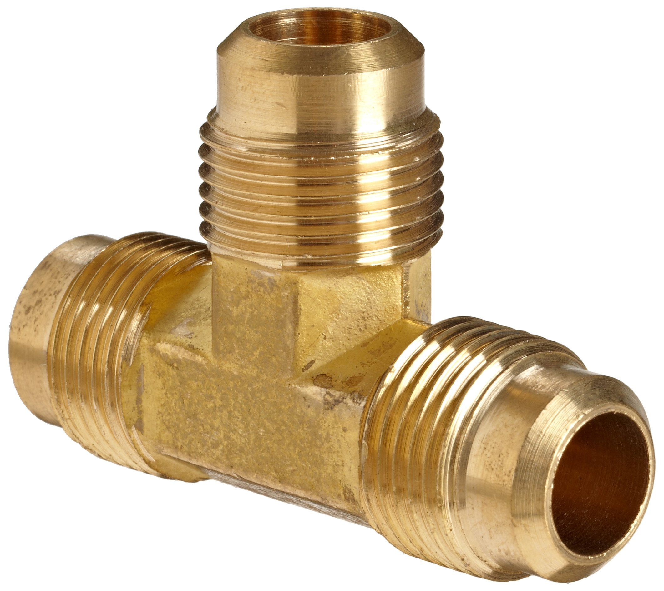 Anderson Metals Brass Tube Fitting, Flare Tee, 3/4'' x 3/4'' x 3/4'' Flare