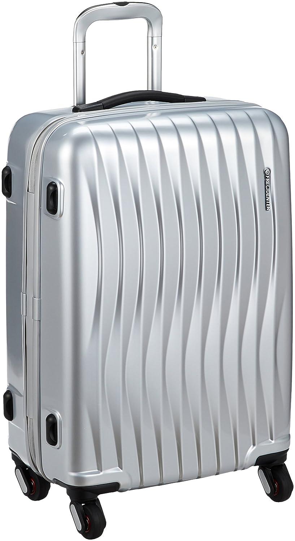 [フリクエンターウェーブ] 4輪スーツケース ファスナータイプ 56L 56L 58cm 3.5kg 1-621  シルバーメタリック B06XTF6CVR