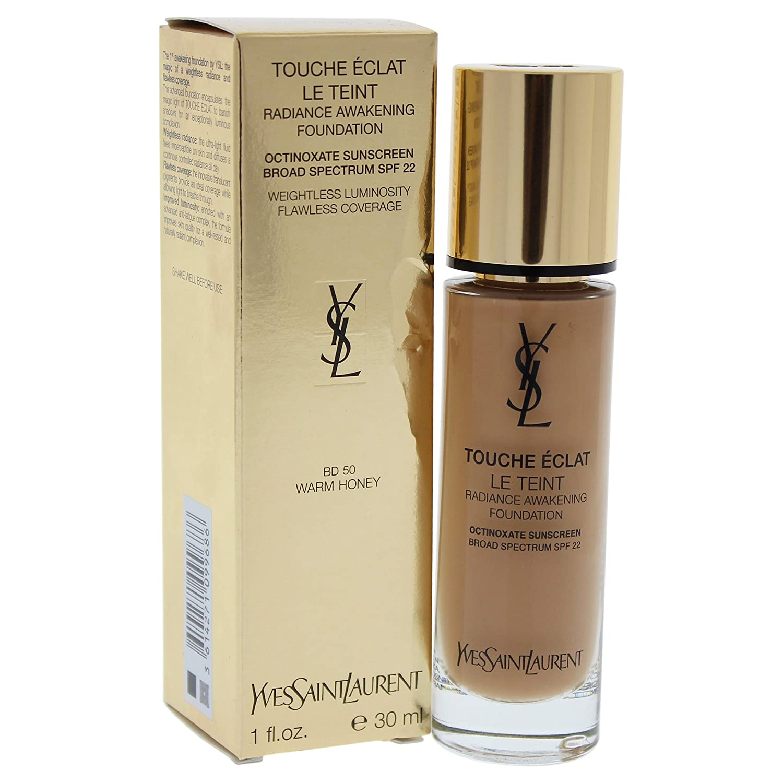 Yves Saint Laurent Le Teint Touche Eclat Radiance SPF 22 Awakening Foundation for Women, Warm Honey, 1 Ounce