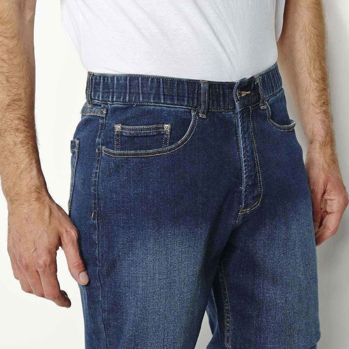 La Redoute Castaluna for Men Mens Elasticated Waist Stretch Straight Jeans Length 33
