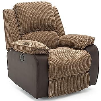 Postana Jumbo Cord Fabric Power Recliner Armchair Electric Sofa