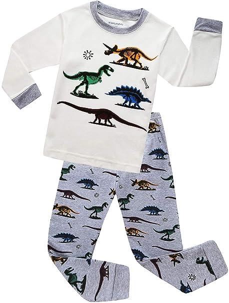 Amazon.com: MOGGEI Pajamas - Ropa de dormir para niños, 100 ...
