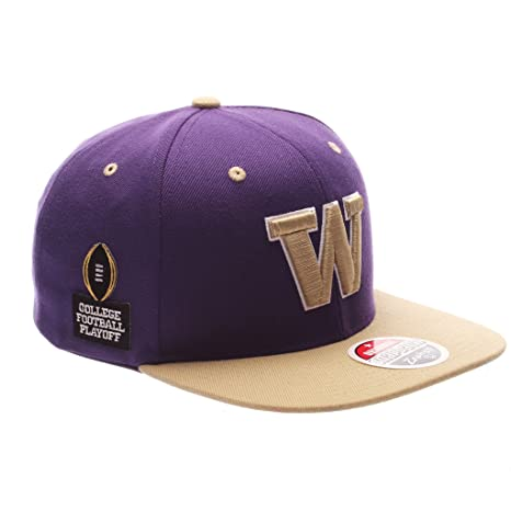 09b04075e1f Image Unavailable. Image not available for. Color  Zephyr Men s Washington  Huskies Z11 ZWOOL HAT Purple ADJ