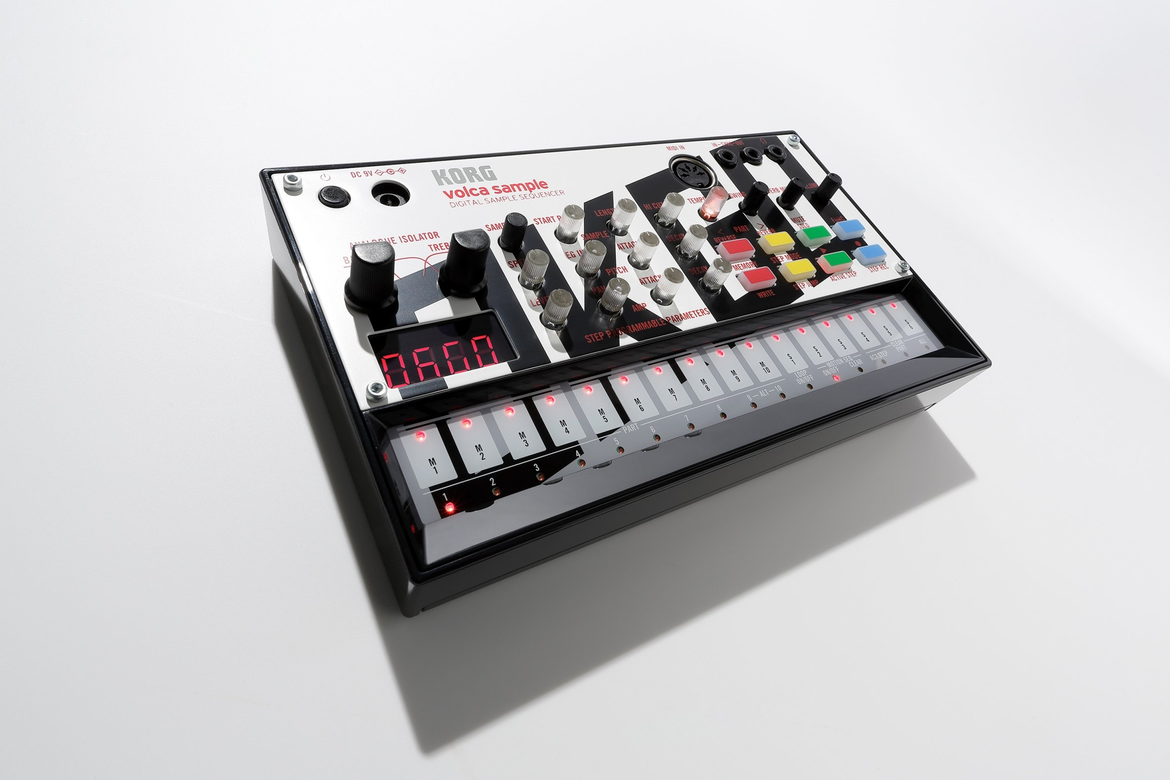 Korg VOLCAOKGO Limited Edition Version Volca Sample with Content & Panel Graphic (Created by OKGO) by Korg (Image #4)