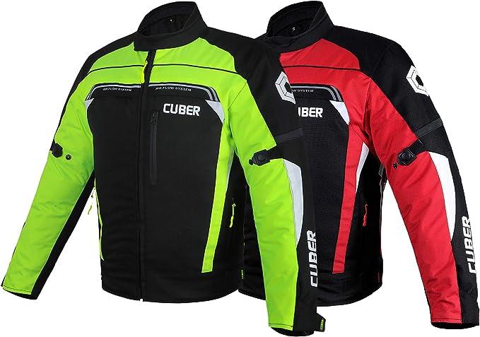 Cuber Motorcycle Mesh Jacket Riding Air Biker Jacket CE Armored Breathable Summer Motorbike Jacket Men