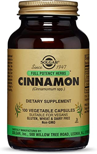 Solgar Full Potency Cinnamon, 100 Vegetable Capsules