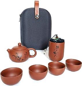 Chinese tea pot tea cup Portable Travel Tea set Handmade Tea Pot Tea set Household wine set Chinese Tea Ceremony Gift