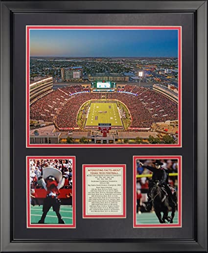 Amazon Com Texas Tech University Red Raiders Football Stadium 16 X 20 Framed Photo Collage By Legends Never Die Inc Sports Outdoors