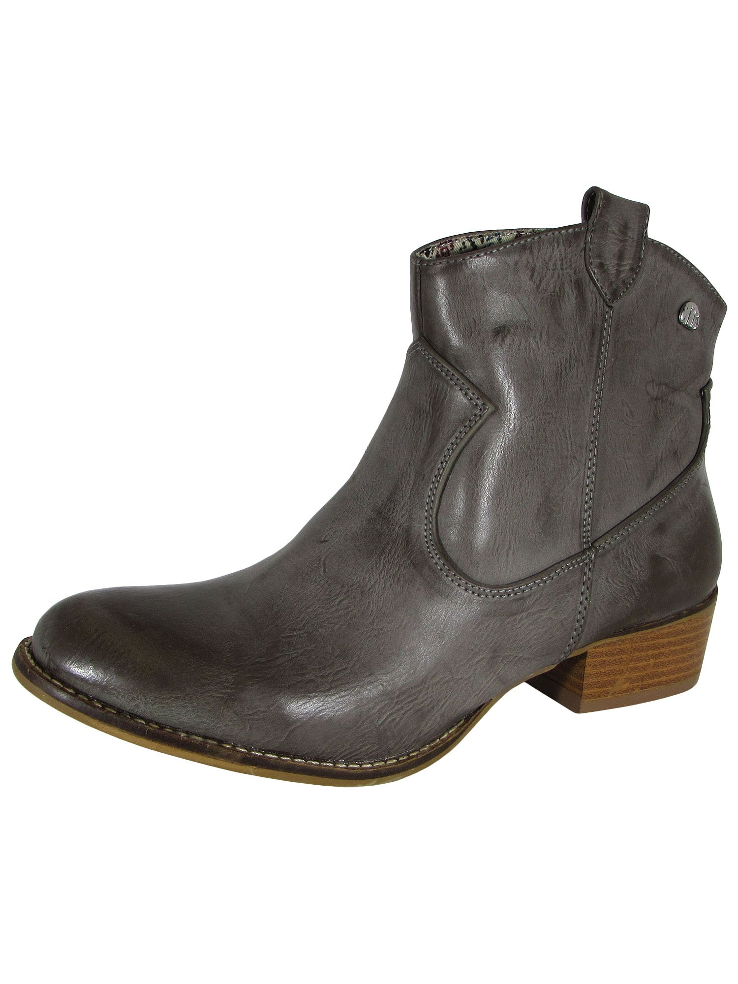 MTNG Mustang Womens 58412 Western Ankle Boot Shoes, Grey, 41 EU / 9.5-10 US