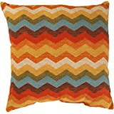 Pillow Perfect Panama Wave 16.5-Inch Throw Pillow, Adobe