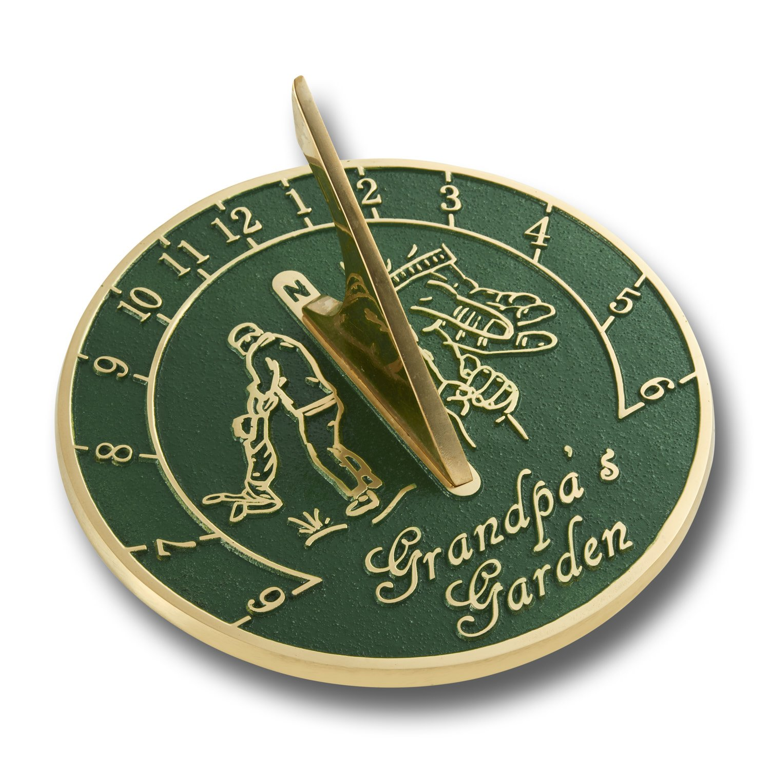 The Metal Foundry Grandpa's Garden Sundial Gift. Looking For The Best Present Idea For A Special Grandpa For His Birthday, Christmas Or Fathers Day?