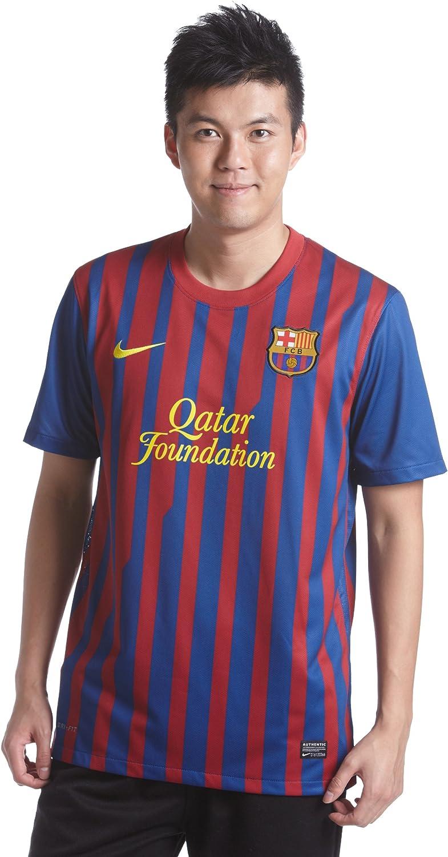 Amazon Com Nike Fc Barcelona Home Men S Soccer Jersey 2010 11 Clothing