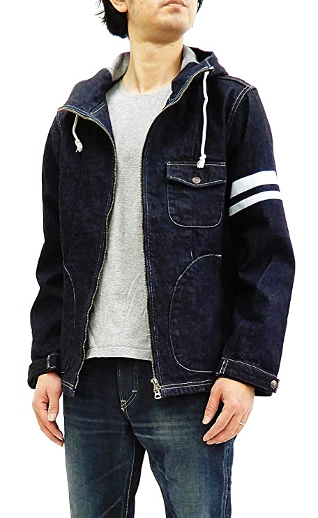 Momotaro Jeans Men's Casual Denim Parka Unlined Lightweight Jacket 03-120 Tagged Japan 38 (US S/UK 36)