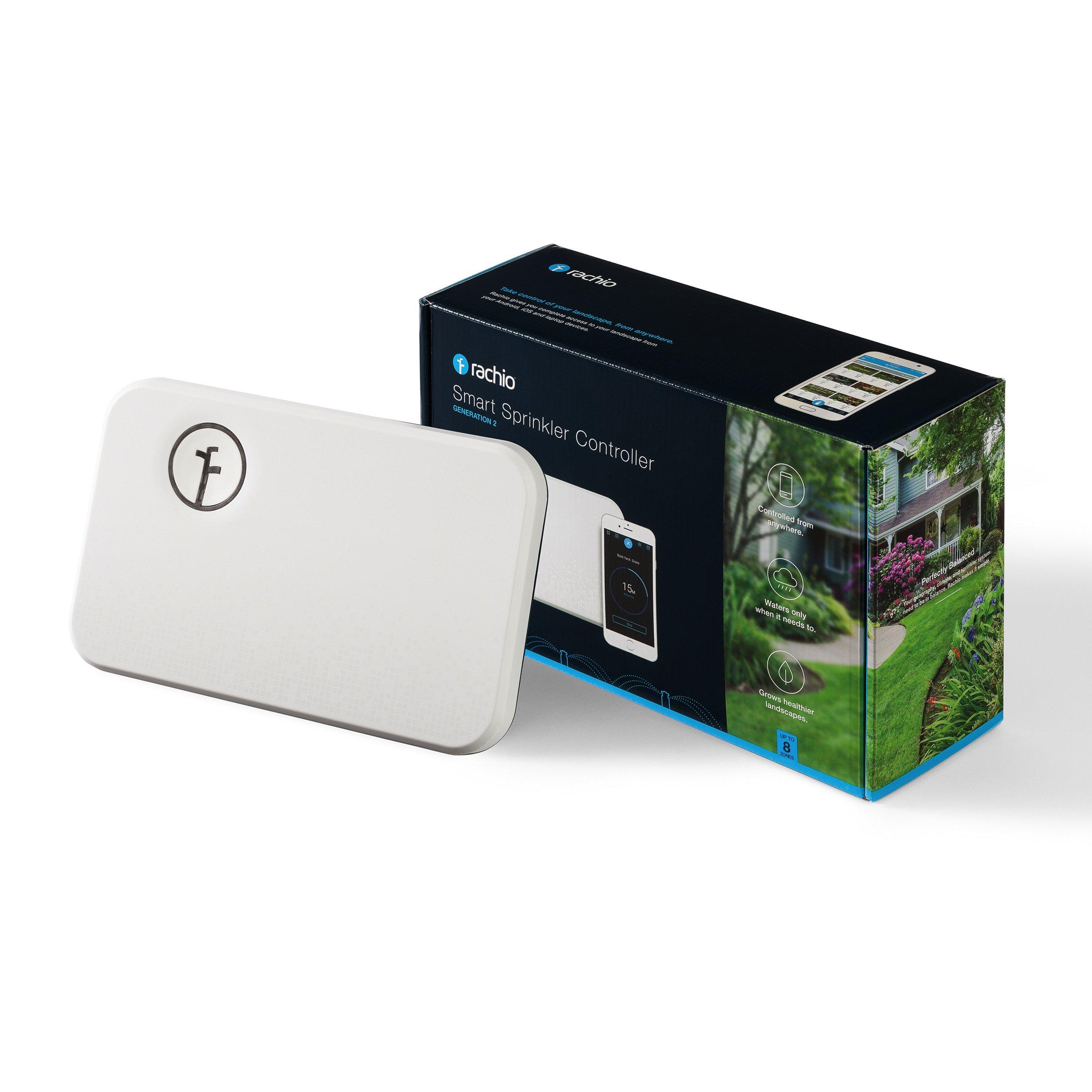 Rachio Smart Sprinkler Controller, WiFi, 8 Zone 2nd Generation, Works with Amazon Alexa by Rachio (Image #1)
