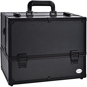 Makeup Train Case Professional Adjustable - 6 Trays Cosmetic Cases Makeup Storage Organizer Box with Lock  sc 1 st  Amazon.com & Amazon.com : Makeup Train Case Professional Adjustable - 6 Trays ...