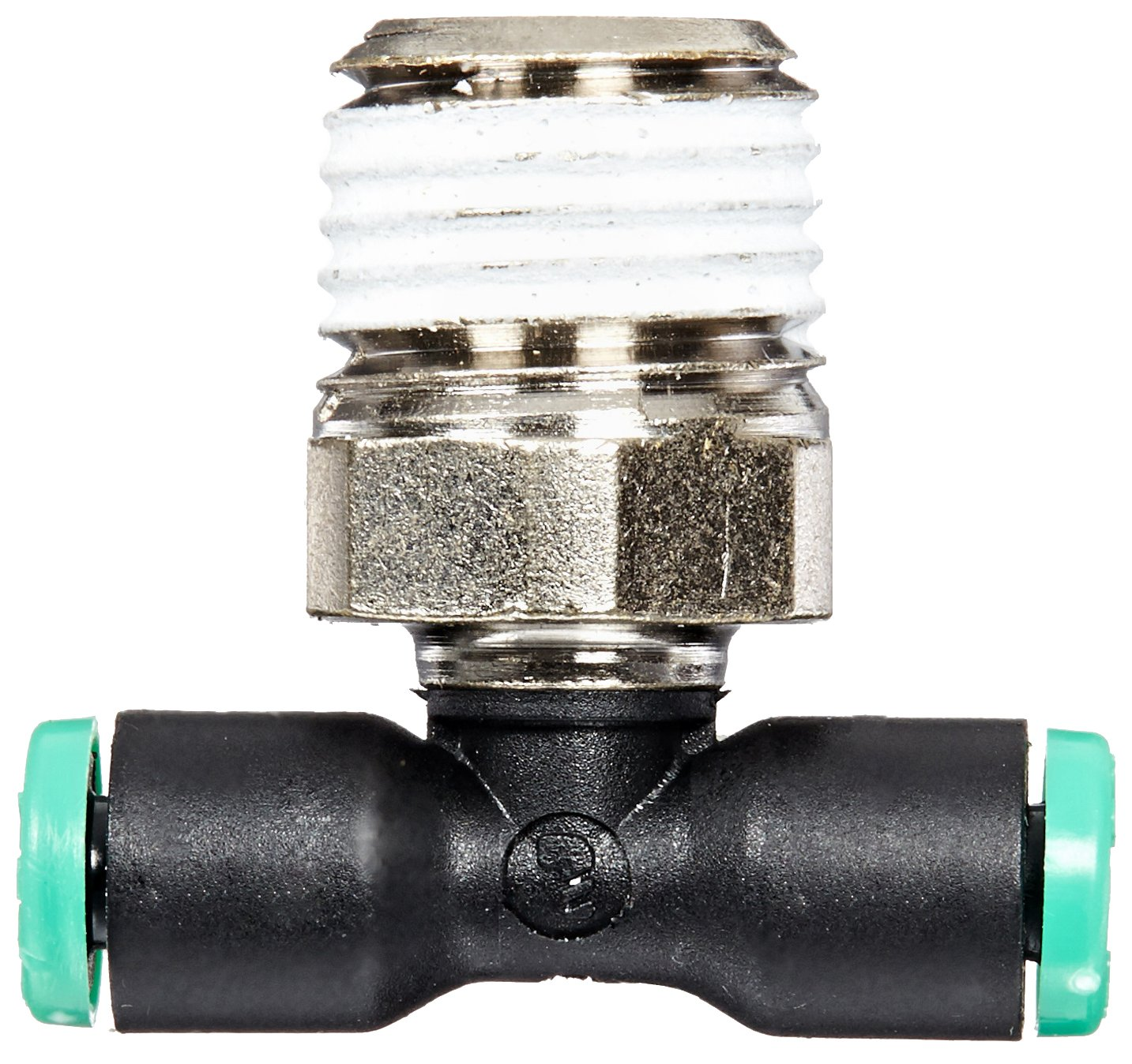 Legris 3108 53 14 Nylon /& Nickel-Plated Brass Push-to-Connect Fitting Branch Tee 1//8 Tube OD x 1//4 NPT Male 1//8 Tube OD x 1//4 NPT Male Parker Legris W372PLP-2-4