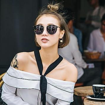 VVIIYJ Marco Redondo Gafas de Sol para Mujer Gafas de Sol ...