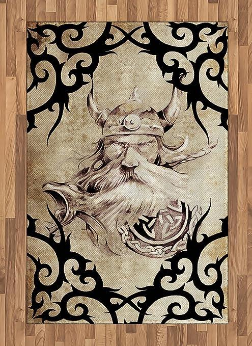 Alfombra de vikingo por Lunarable, patrón de tatuaje con la ...