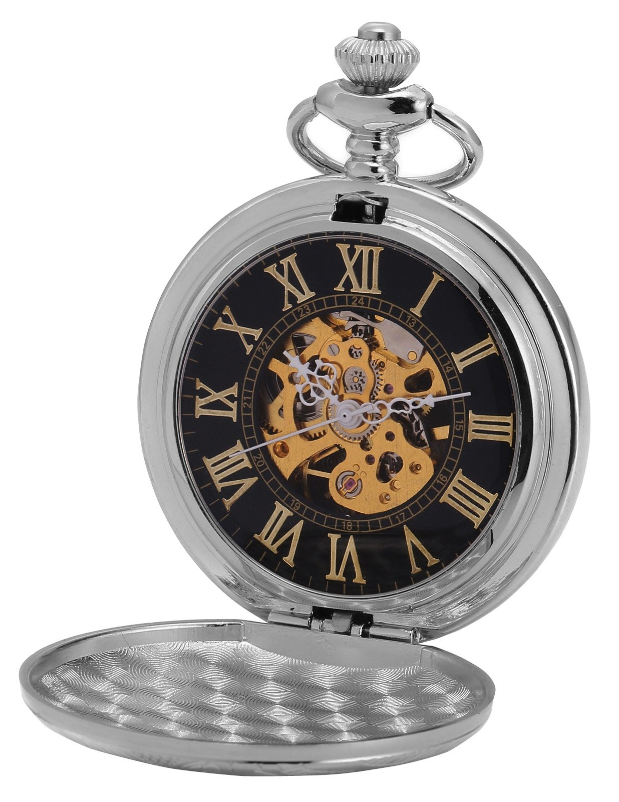 AMPM24 New Classic Skeleton Case Men's Mechanical Pocket Watch WPK212