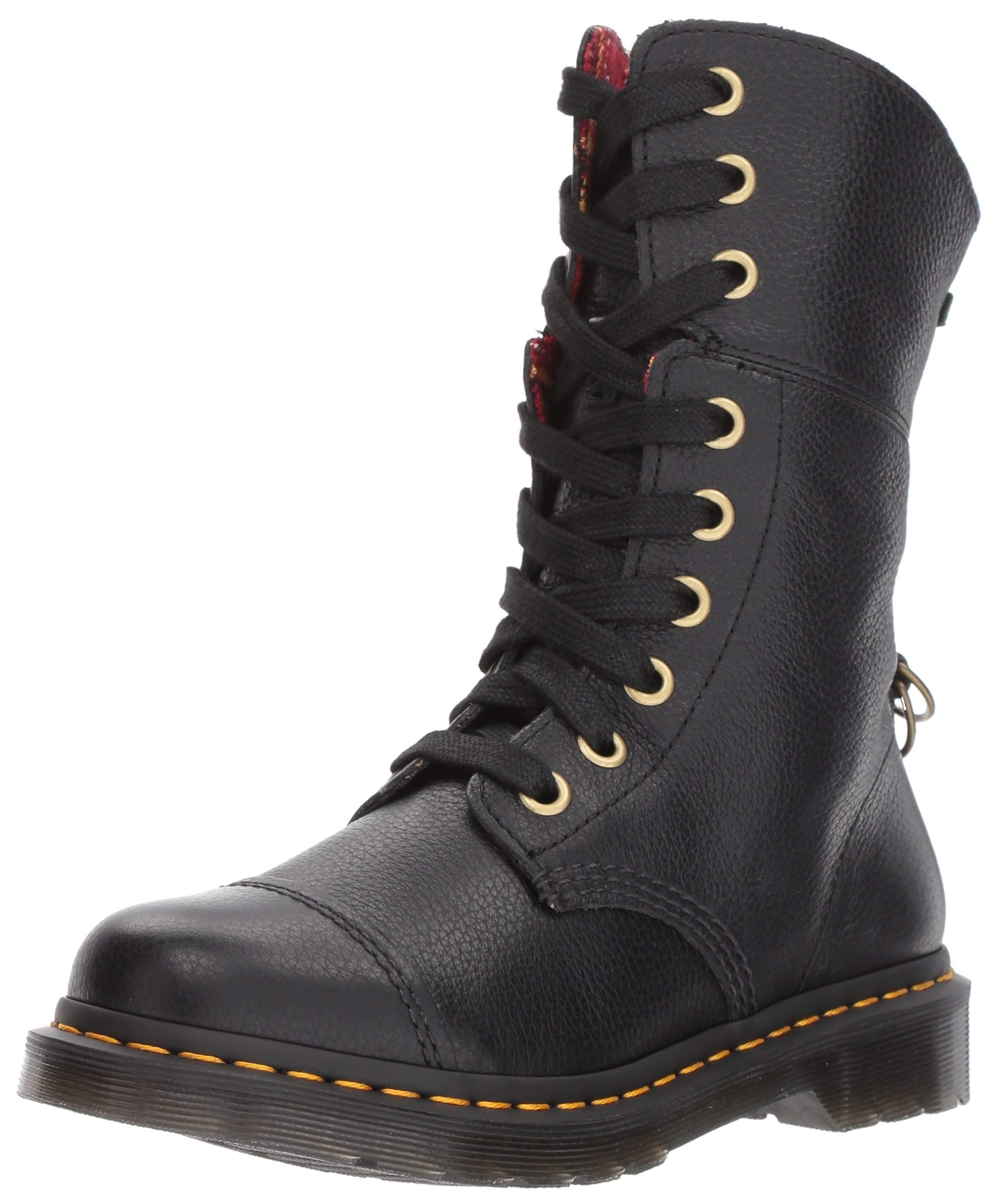 Dr. Martens Women's Aimilita Black Aunt Sally Leather Fashion Boot, 5 Medium UK (7 US) by Dr. Martens