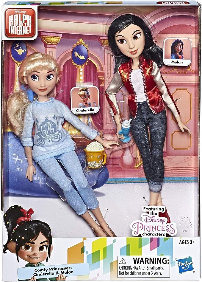 Disney Comfy Squad Princess Doll Outfits Cinderella Mulan Aurora