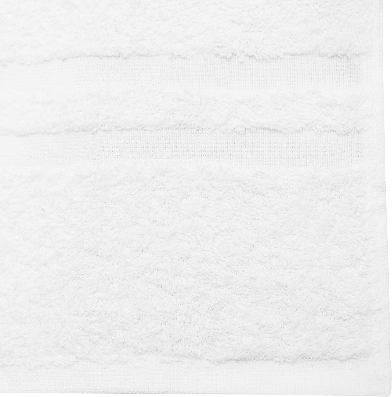 algod/ón 50x100 cm ZOLLNER 4 Toallas de Lavabo Blancas Grandes