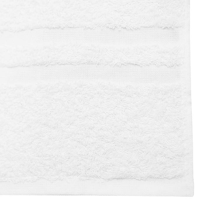 ZOLLNER Juego de 2 Toallas de Ducha de Rizo, algodón, 70x140 cm, Blancas: Amazon.es: Hogar
