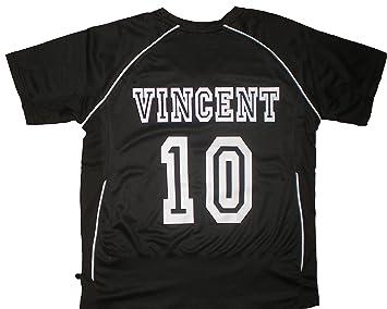 3edba5f36ad83 PATOUTATIS - t-shirt - maillot foot personnalisé avec prénom et numéro de votre  choix