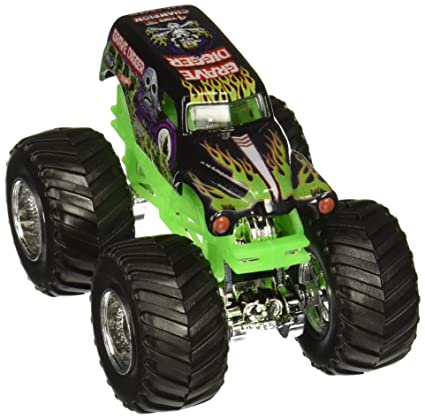 7089bdfab953 Image Unavailable. Image not available for. Color  Hot Wheels Monster Jam  1 64 Scale - Grave Digger with Stunt Ramp ...