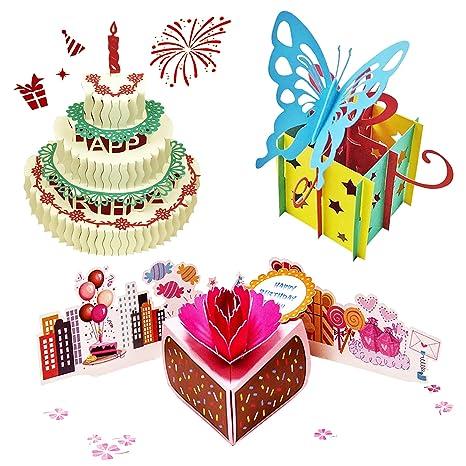 Amazon.com: Tarjetas de cumpleaños desplegables.: Office ...