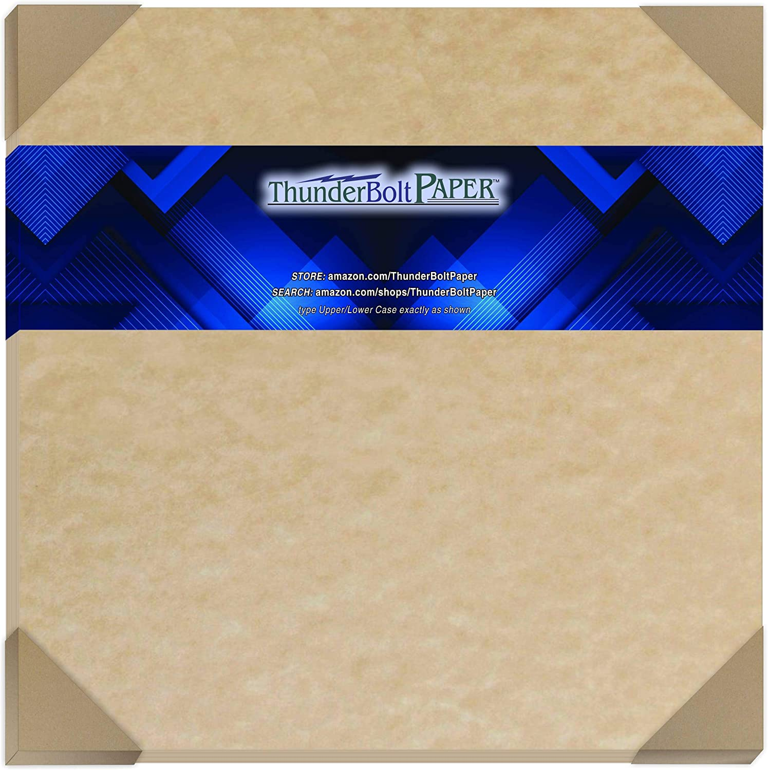 12X12 Inches 25 Sandy Brown Parchment 65lb Cover Weight Paper Printable Cardstock Colored Sheets Old Parchment Semblance 12 X 12 Scrapbook Album|Cover Size