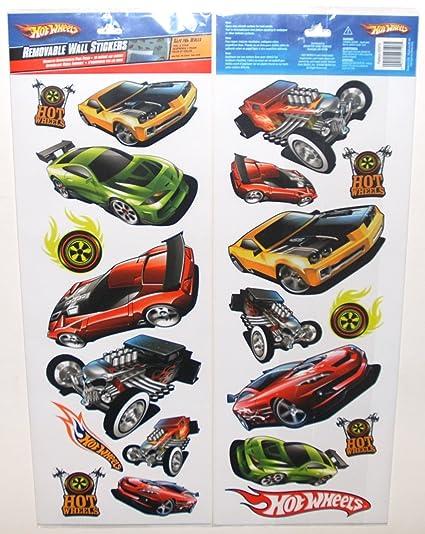 Hot Wheels 20 pared pegatinas pegatinas, habitación de los ...