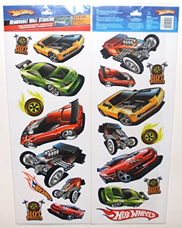 Amazing Hot Wheels   Peel And Stick   20 Wall Stickers Decals Part 13
