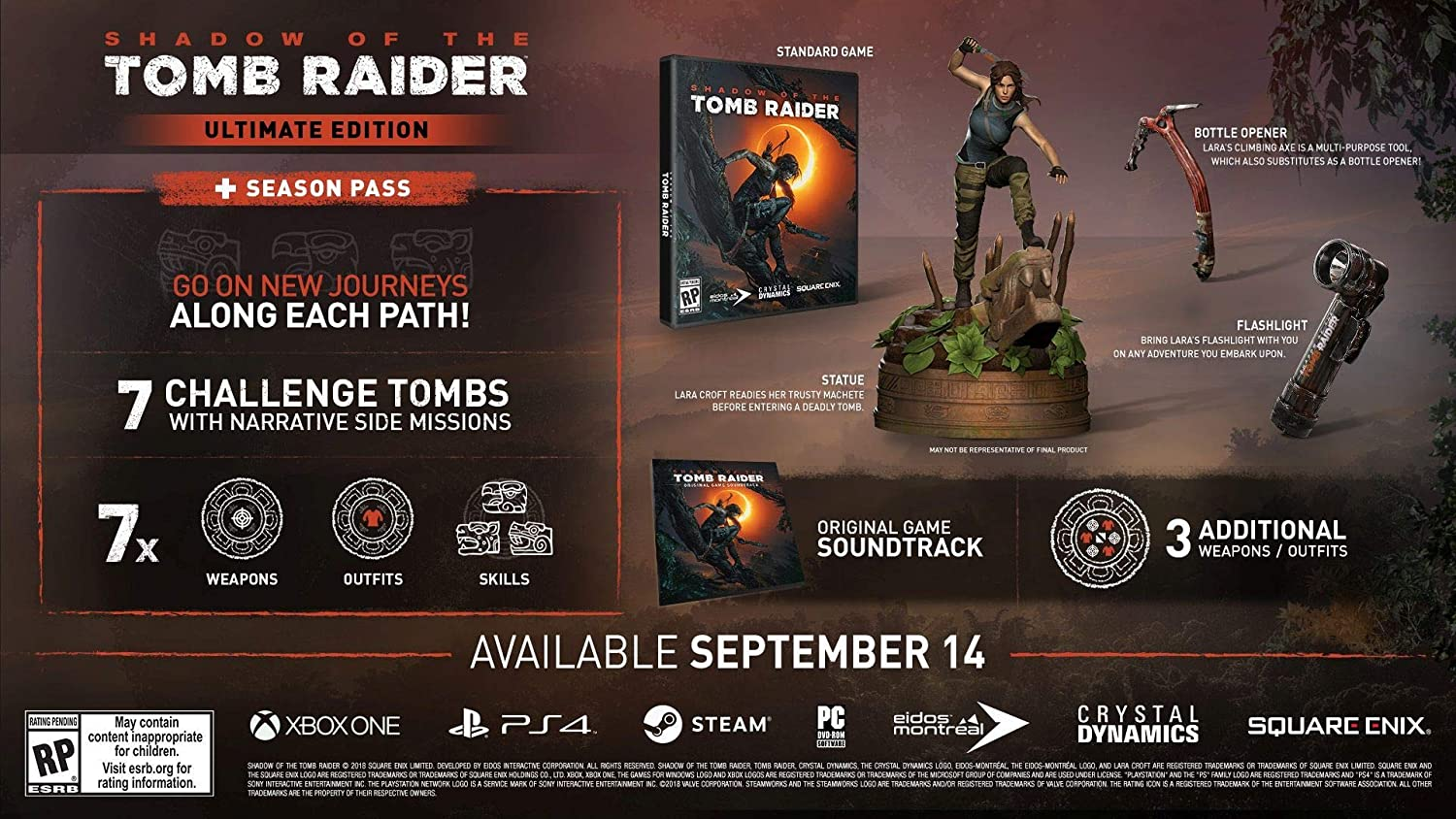 Shadow of the Tomb Raider - Ultimate Collectors Edition ...