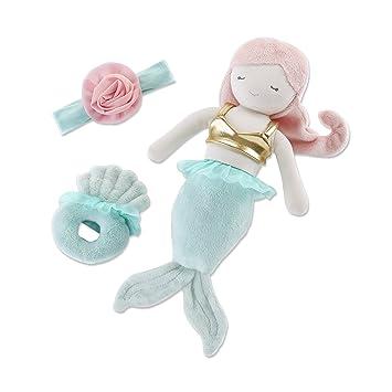 Amazon.com  Baby Aspen Mia The Mermaid Plush Gift Set  4e904fe81