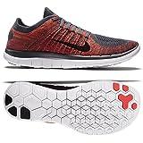 Nike Free 4.0 Flyknit 631053-013 Grey/Black/Crimson/Orange Men's Running Shoes