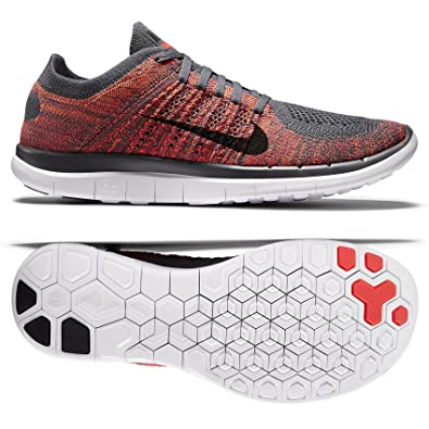 nike mens free 4.0 running shoes color: black\/crimson