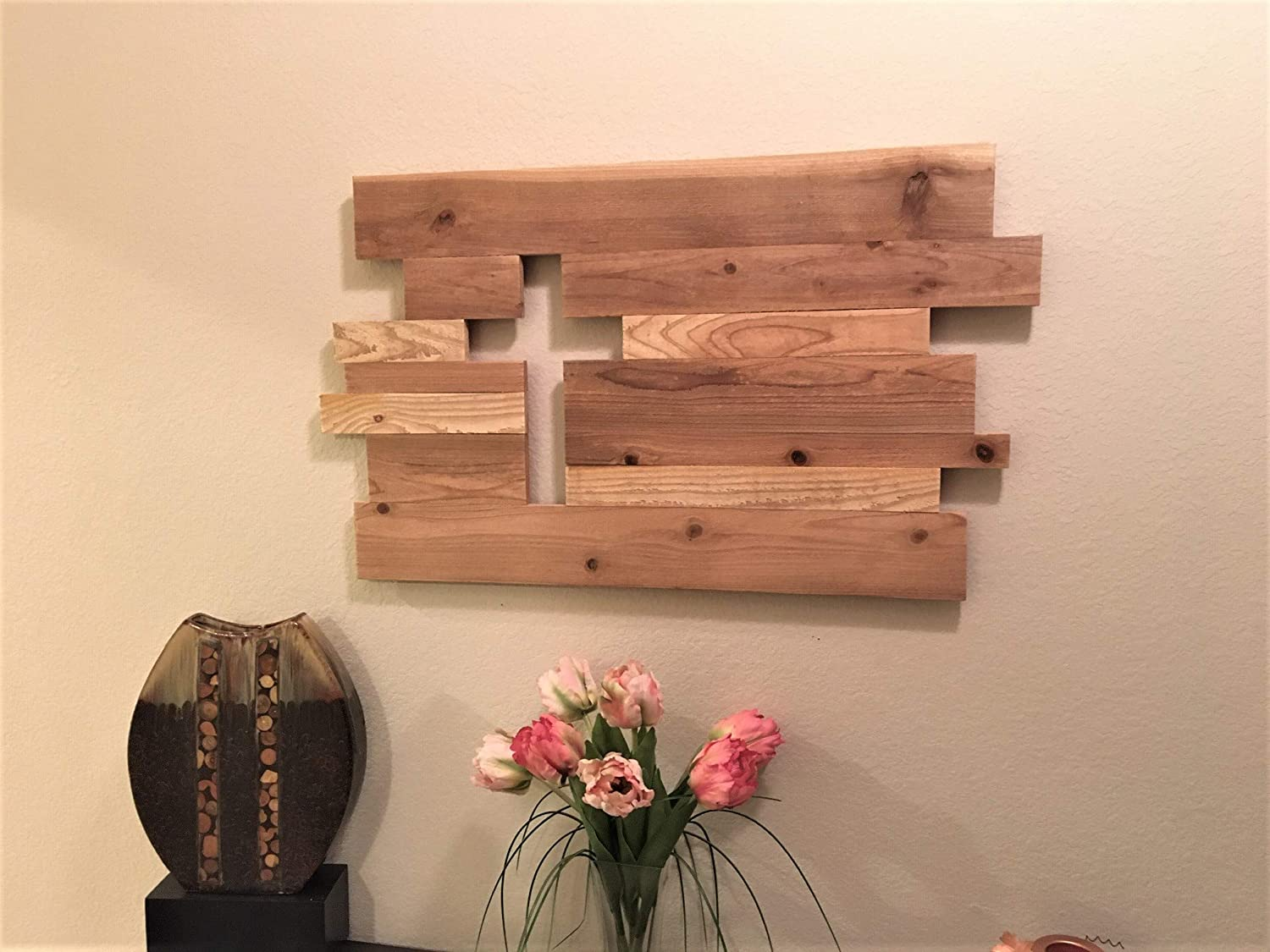 Natural Cedar Wooden Cross Cutout