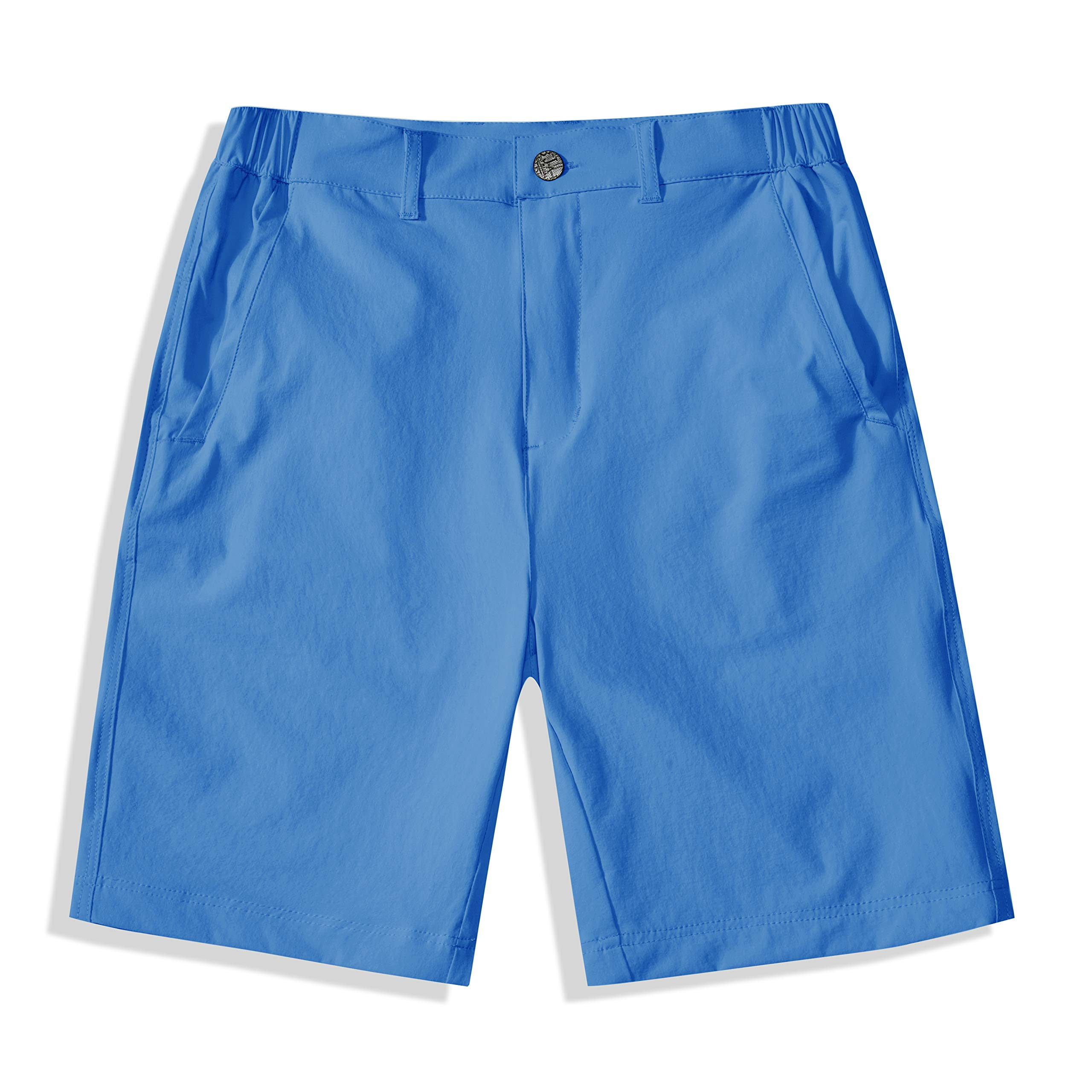 BASADINA Boys Shorts Quick Dry Outdoor Casual Shorts with Moisture Wicking Solid Blue by BASADINA