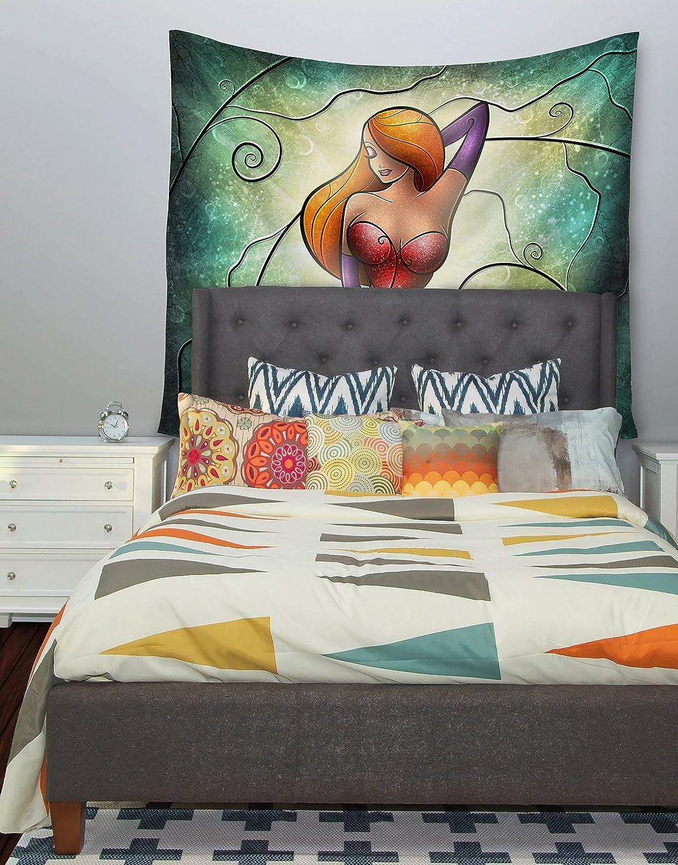 51 X 60 Kess InHouse Mandie Manzano Jessica Green Sparkle Wall Tapestry