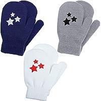 Cooraby 3 pares de manoplas elásticas para invierno, cálidas y mágicas de punto