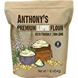 Anthony's Premium Lupin Flour, 1 Pound, Gluten Free, Non GMO, Vegan and Keto Friendly