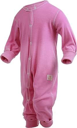 Janus 100% Merino Wool Baby Toddler Pyjama Playsuit Machine Washable Made in Norway